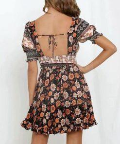 Hippie geblümtes kurzes Kleid